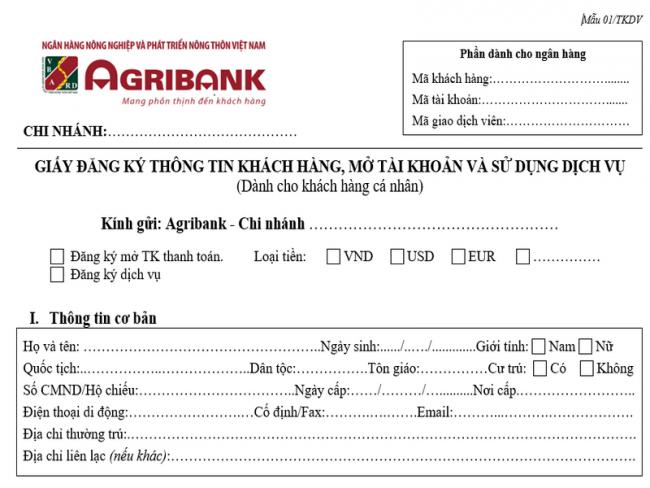 Mách bạn cách mở tài khoản ngân hàng Agribank trực tuyến